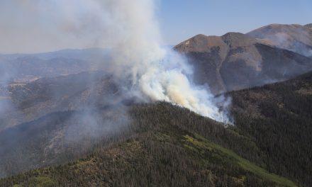 Decker Fire burns south of Salida