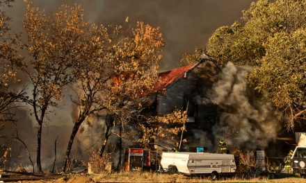 Explosion and Fire Destroy a Block of Moffat