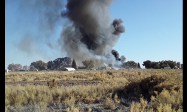 House fires rage in Moffat, Colorado today