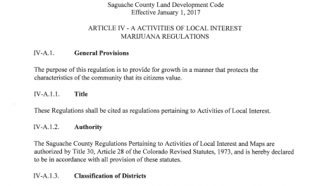 Saguache County considers land use changes on the number of medical marijuana plants allowed